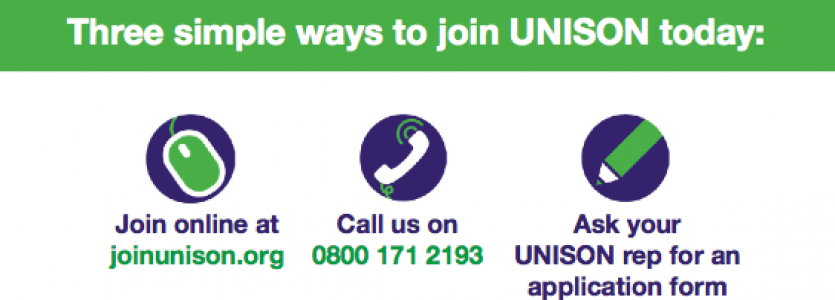 Chat to your colleagues about joining UNISON!